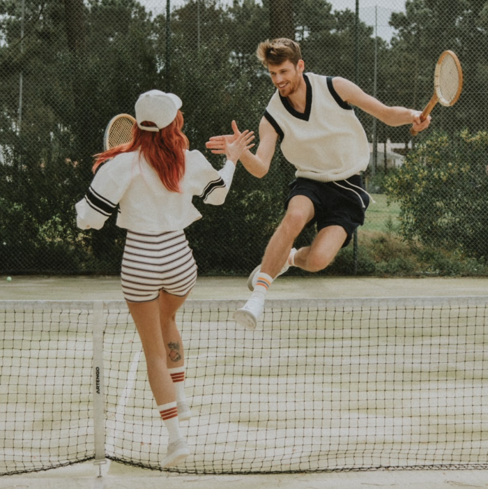 Tennisers met lenzen