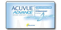 ACUVUE ADVANCE for ASTIGMATISM met HYDRACLEAR