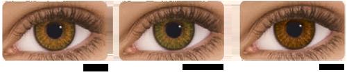 Voorbeelden Freshlook Colorblends